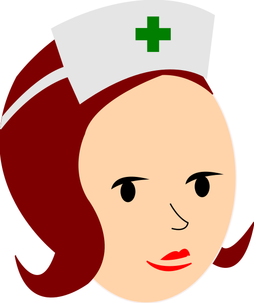 nurse brunette green