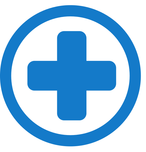 medical sign with circle