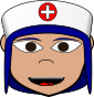 cartoon nurse blue