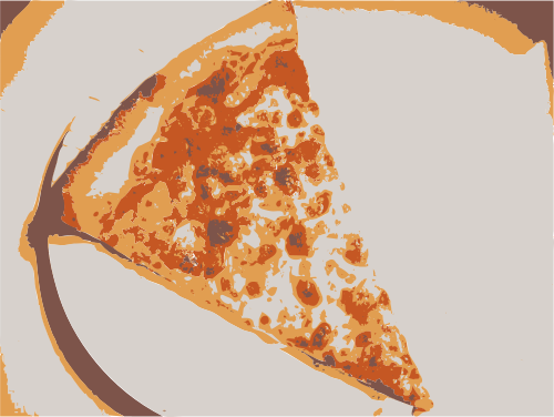 slice of pizza 4 colors