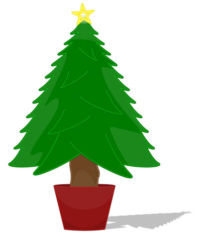 elkbuntu Glossy Christmas Tree